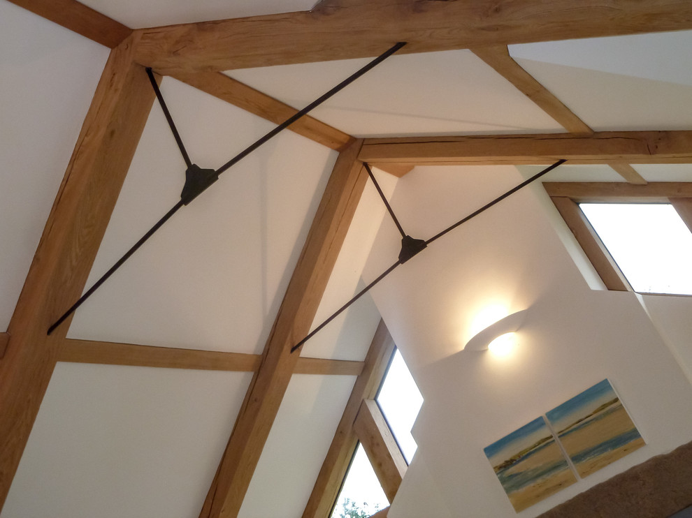 Green Oak 'A' Framed roof with Mild Steel Ties
