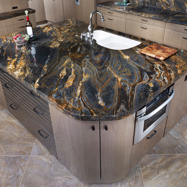 Granite Slabs Arizona Tile : Spectrus granite kitchen los angeles by arizona tile