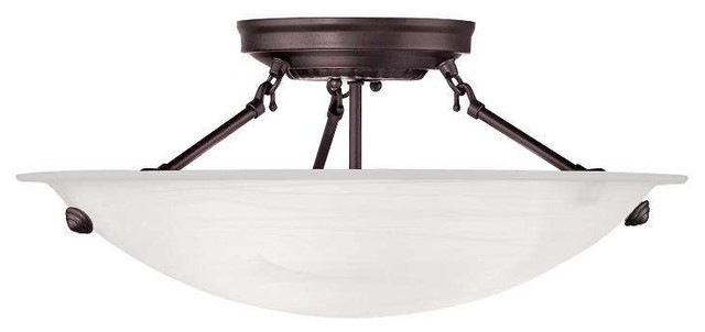 Livex Lighting 4273-07 Oasis Semi Flush Mount Light In Bronze.