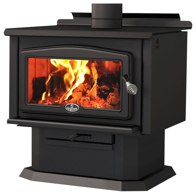 Osburn 2400 Wood Burning Stove With Pedestal & Large Firebox.