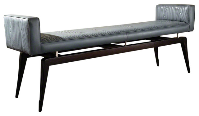 Global Views Faux Bois City Bench. -1