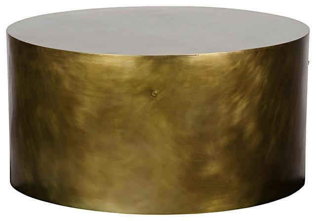 Noir Noir Lorene Coffee Table Metal W Antique Brass Finish Coffee
