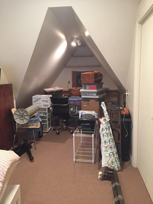 Attic turned home yoga studio for Attic design studio