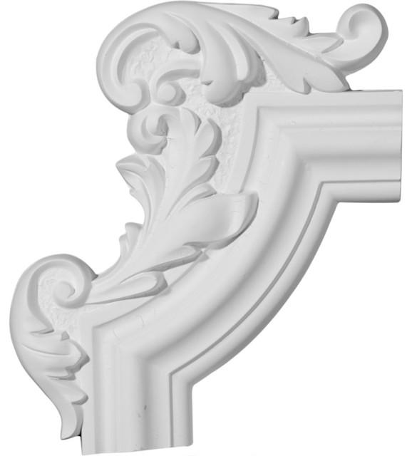 """Pompeii Panel Moulding Cornerleft, 13 1/4""""w X 10 5/8""""h X 1 1/8""""p."""