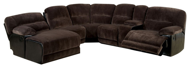 Glasgow Dark Brown Elephant Skin Microfiber Sofa Sectional