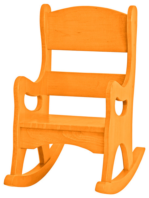 Shop houzz furniture barn usa amish made real wood for Orange kids chair