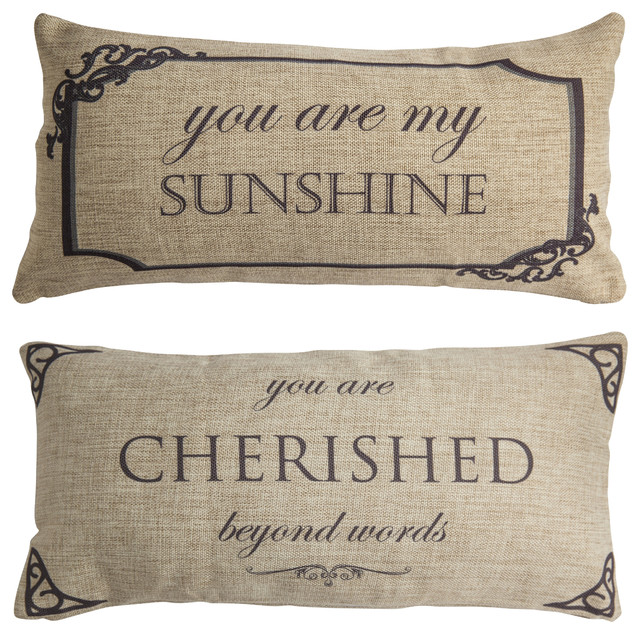 Decorative Love Pillow : Cherished Doublesided Love Pillow - Traditional - Decorative Pillows - by Evelyn Hope Collection