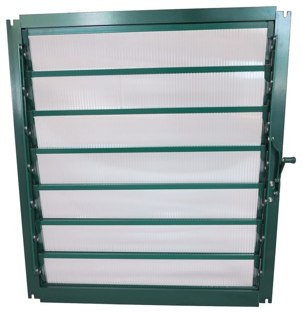 Grandio Greenhouse Wall Louver Window, Without Auto Opener.