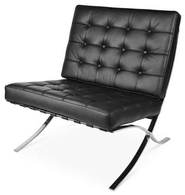 Pavillion Lounge Chair, Black.