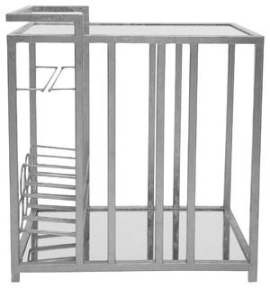 Astaire Bar Cart, Silver