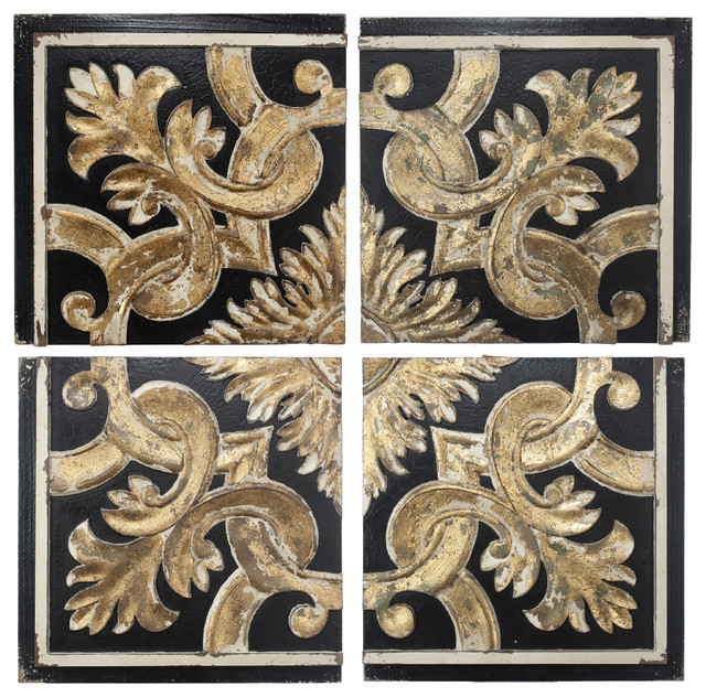 Rustic Couture Wall Panels, 4-Piece Set.