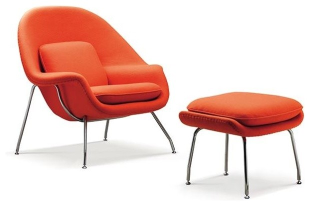 Etonnant Eero Saarinen Womb Chair And Ottoman In Burnt Orange By Rove Concepts