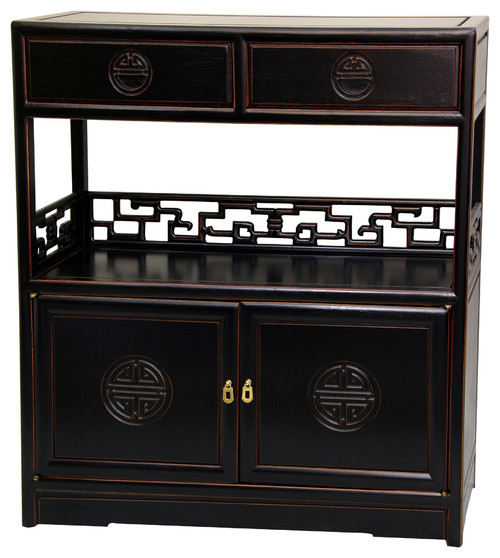 Rosewood Long Life Display Cabinet, Antique Black