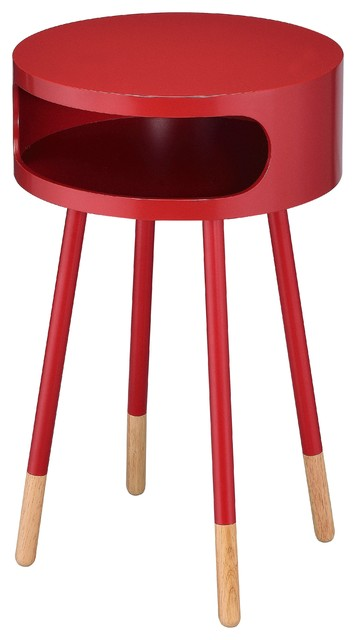 Sonria End Table, Red.