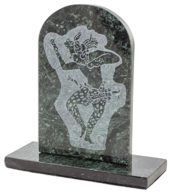 Novica Maya Jaguar Dancer Marble Sculpture