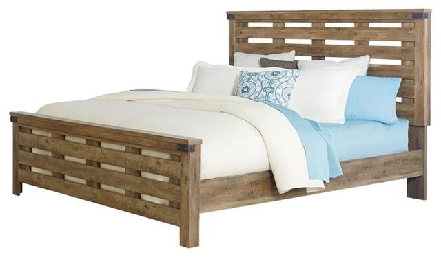Standard Furniture Montana Panel Bed, Pine, Queen.