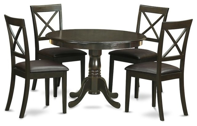5-Piece Kitchen Nook Dining Set, Kitchen Table And 4 Dinette Chairs
