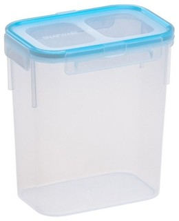 Airtight Plastic Food Storage Container, 7.3 Cup, Rectangle - Transitional - Food Storage ...
