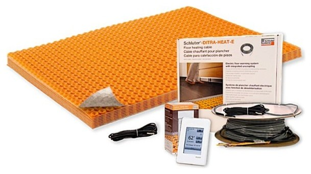 Ditra-Heat-Tb Kit, 21 Sq. Ft. With Touch Programmable Thermostat, 120v.
