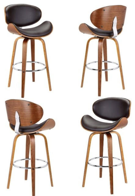 Pleasing Solvang 30Swivel Barstool In Brown Faux Leather Set Of 4 Pdpeps Interior Chair Design Pdpepsorg