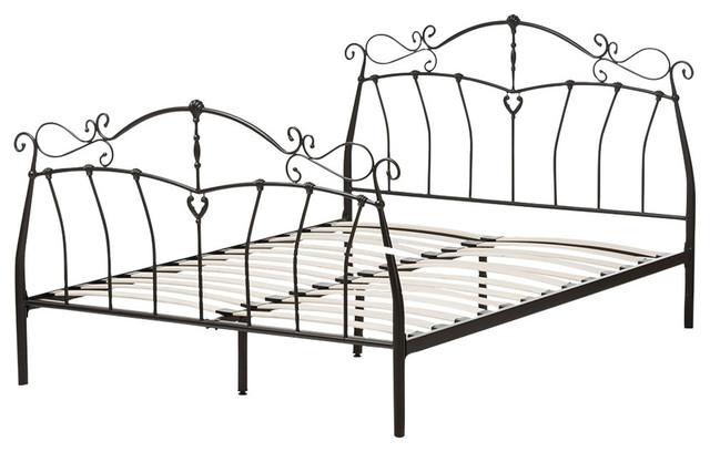 Selena Antique Bronze Finished Metal Full Size Platform Bed.