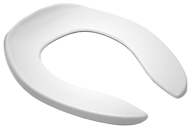 Toto Cotton Elongated Open Front Toilet Seat Cotton White Toilet Seats By