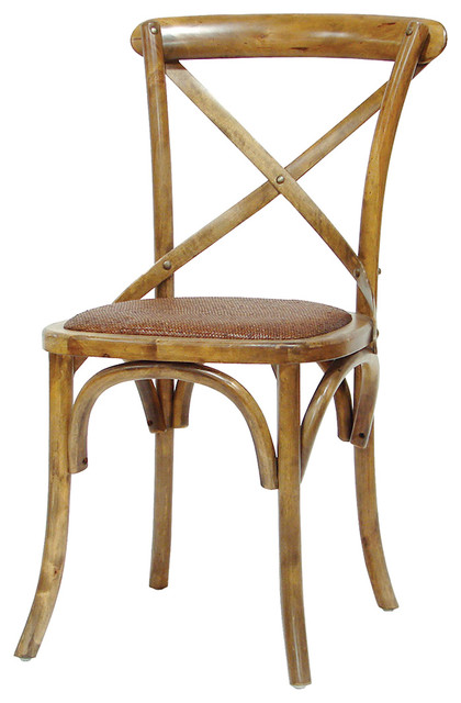 Magritte French Country Antique Oak Cane Bistro Chair traditional-dining- chairs - Magritte French Country Antique Oak Cane Bistro Chair