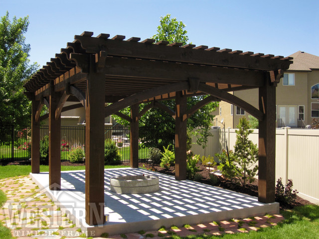 western timber frame decks patios outdoor enclosures entertainment size pergolas contemporary patio