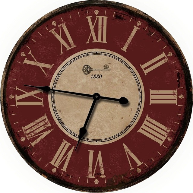 Nora Lane, LLC - French Decor Red Wall Clocks & Reviews | Houzz