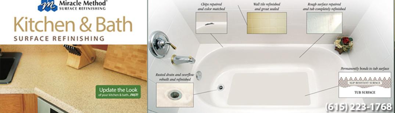 Bathroom Fixtures Nashville miracle method refinishing - nashville, tn, us 37204