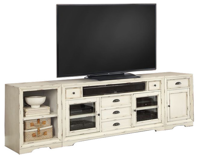 Parker House Nantucket 3 Piece 63 Quot Tv Console Set White