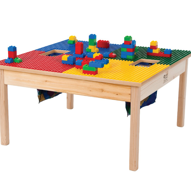 Lego Compatible Play Table With Storage Bag Kids Tables