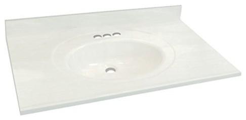 31 X22 Cultured Marble Bathroom Vanity Top