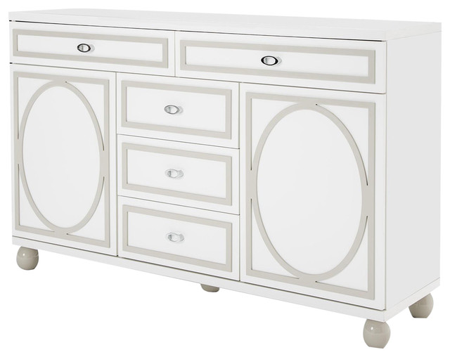 Aico Sky Tower Dresser, White Cloud 9025650-108.
