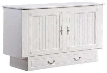 Zzz-Chest Murphy Bed Cabinet, Cottage White.