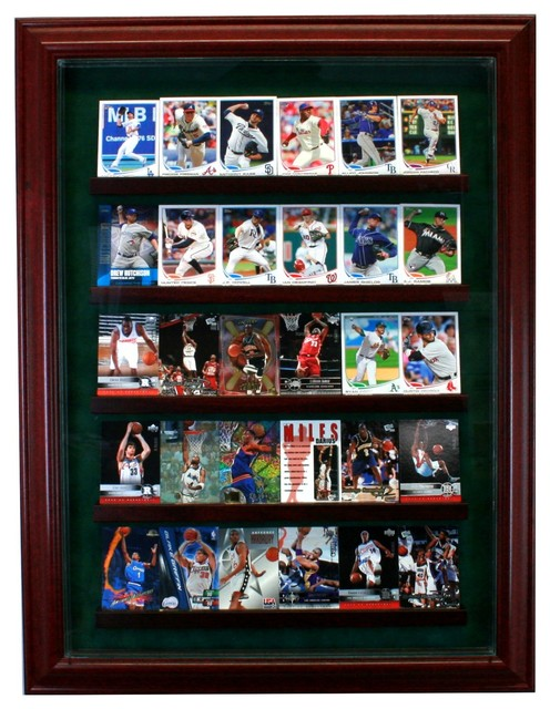 30 Card Cabinet Style Display Case - Traditional - Storage ...
