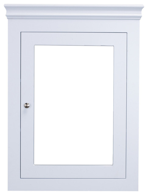 Eviva New York 24 Inch White Wall Mount Medicine Cabinet.