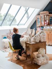 Das Haus einer Textilkünstlerin: So schön kann aussteigen sein