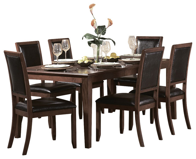 Homelegance Avalon 72 Inch Rectangular Dining Table In Cherry  Traditional Dining Tables