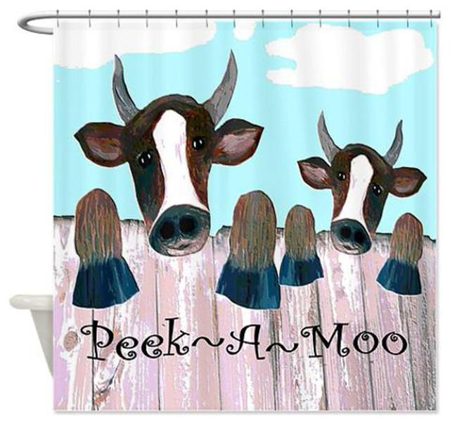 Peek A Moo Shower Curtain