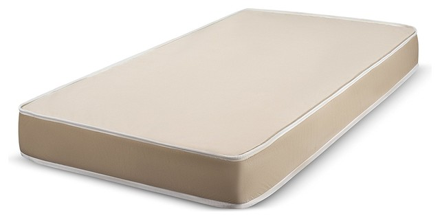 """Fortnight Bedding 3"""" Foam Mattress With Durable Fabric Cover, 33x74""""."""