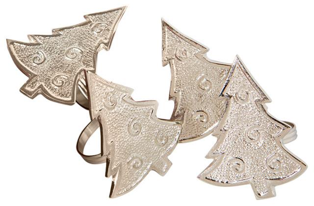 Tannenbaum christmas tree holiday metal napkin rings