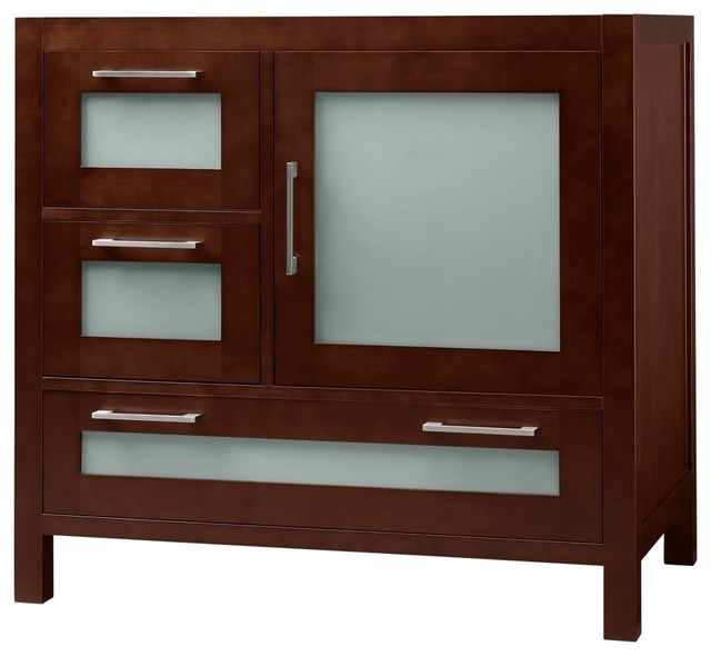 Ronbow Athena Solid Wood 36 Vanity Base Cabinet Contemporary Bathroom Vanities And Sink