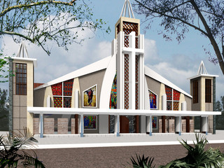 Need help for this church exterior design for Modern church youth building design