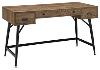 Surplus Office Desk, Walnut - Midcentury - Desks And ...