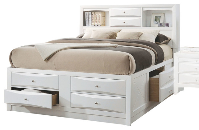 719e5597d86d Ireland Bed With Storage - Transitional - Platform Beds - by Acme Furniture