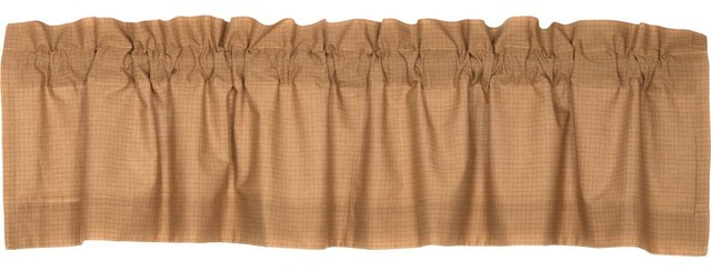 "Kindred Star 16""x72"" Lined Plaid Valance."