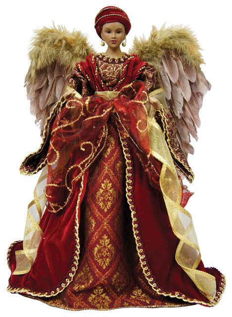 16 diva angel tree topper traditional christmas ornaments - Christmas Angel Tree