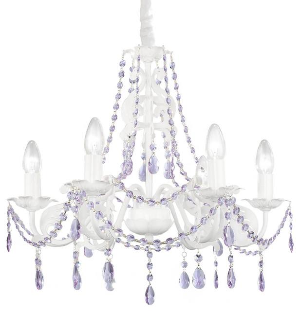Ashley Chandelier Purple Crystals 6