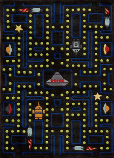 Lil Mo Whimsy Polyester, Hand-Tufted Rug, Arcade Black, 5'x7'